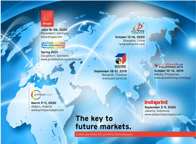 Yintech ctp machine international printing trade show map